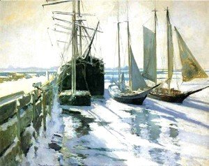 John Henry Twachtman - Winter  Gloucester Harbor