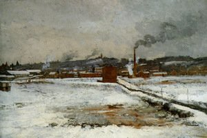 John Henry Twachtman - Winter  Mill Creek Valley  Cincinnati